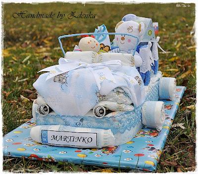 Plienková torta - autíčko