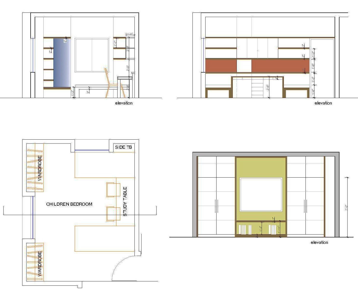 Front Elevation Mirror : Interior designing portfolio renovation of a bedroom