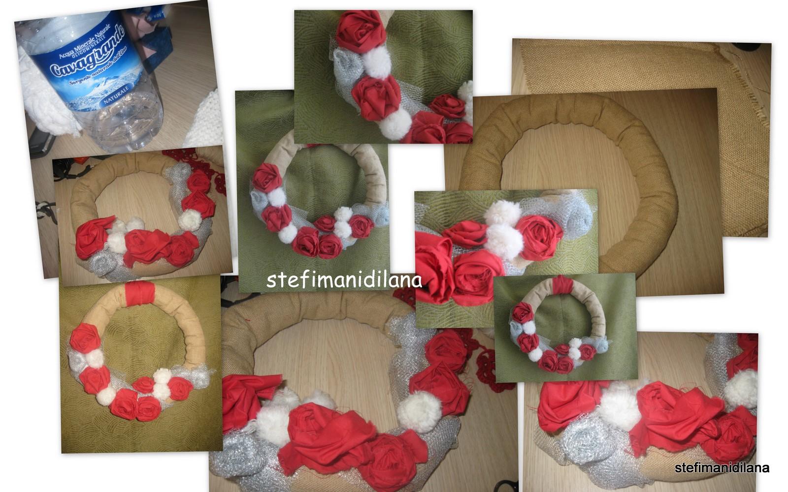 Stefimanidilana ghirlanda natalizia decorazione porta for Decorazione natalizia per porta