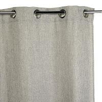 cortina anillas gris