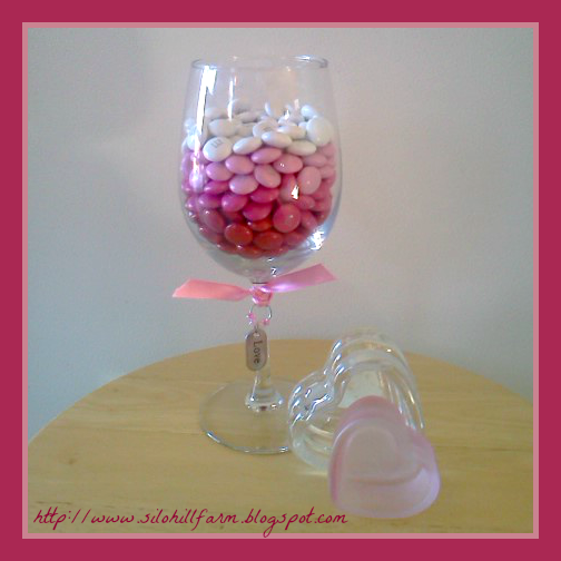 Rock Candy Filled Champagne Glasses: Silo Hill Farm: OMBRE CANDY GLASS