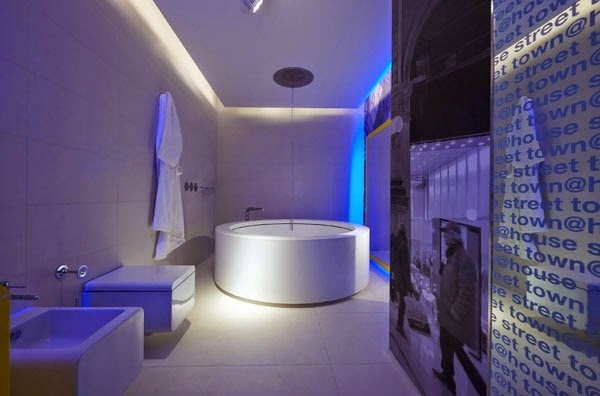 Perfect You Can Install Innovative Bathroom Ceiling And Wall Lights According To The Size Of The Place And The Mood You Need To Create The Flexible LED Ceiling Lights Are Excellent To Create Marvelous Shapes In Your Bathroom Ceiling Using
