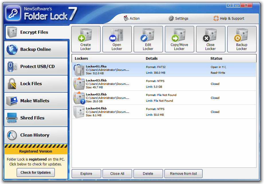 folder lock software for windows 7
