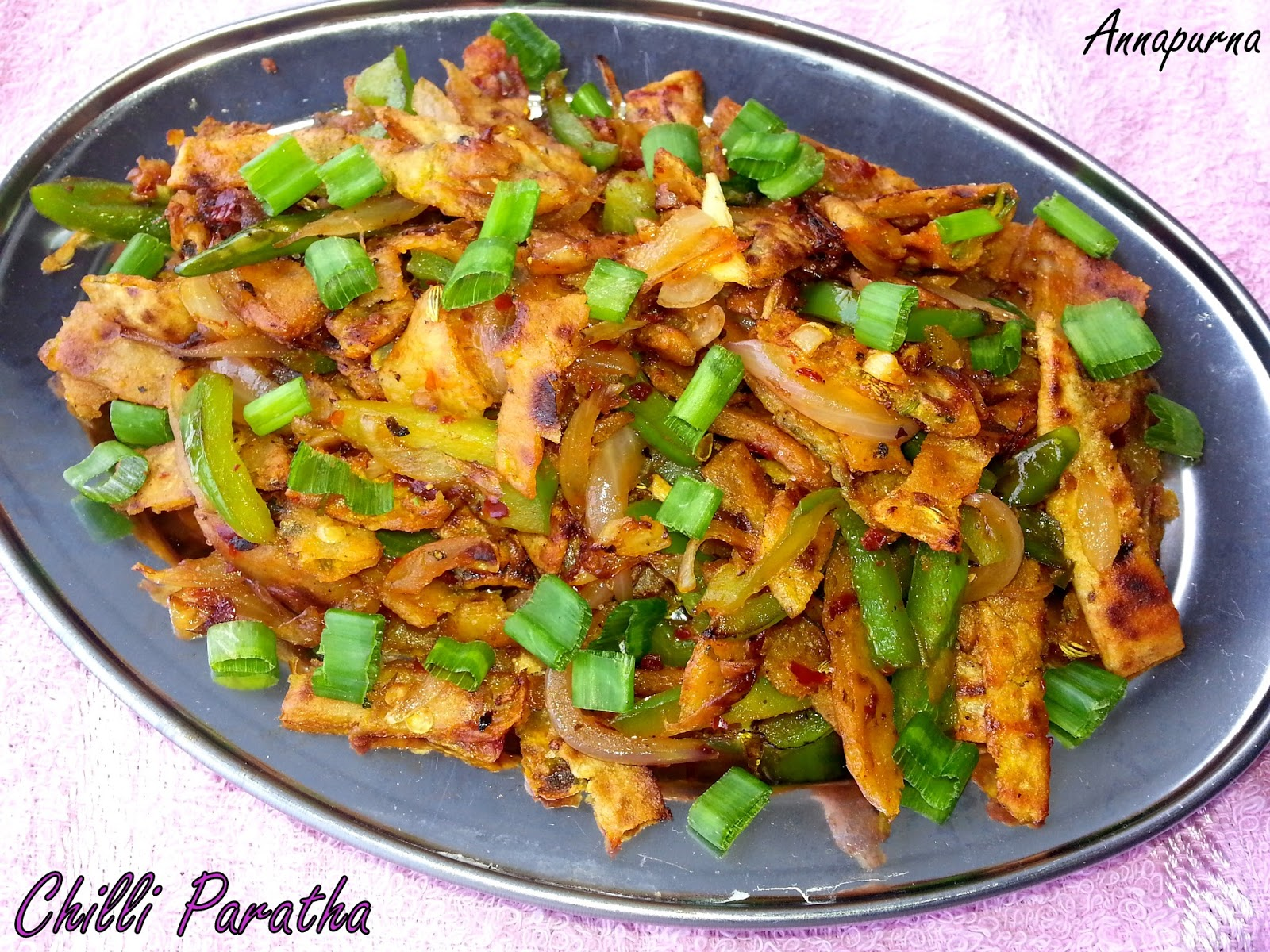 Annapurna chili paratha south indian street food vegetarian recipe chili paratha south indian street food vegetarian recipe forumfinder Images