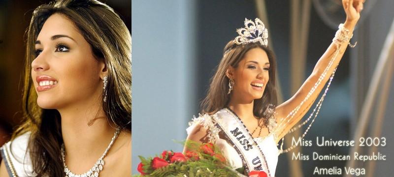 Miss Universo 2003 Amélia Vega Miss Republica Dominicana