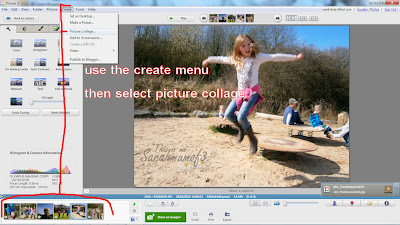 make a photo collage in picasa