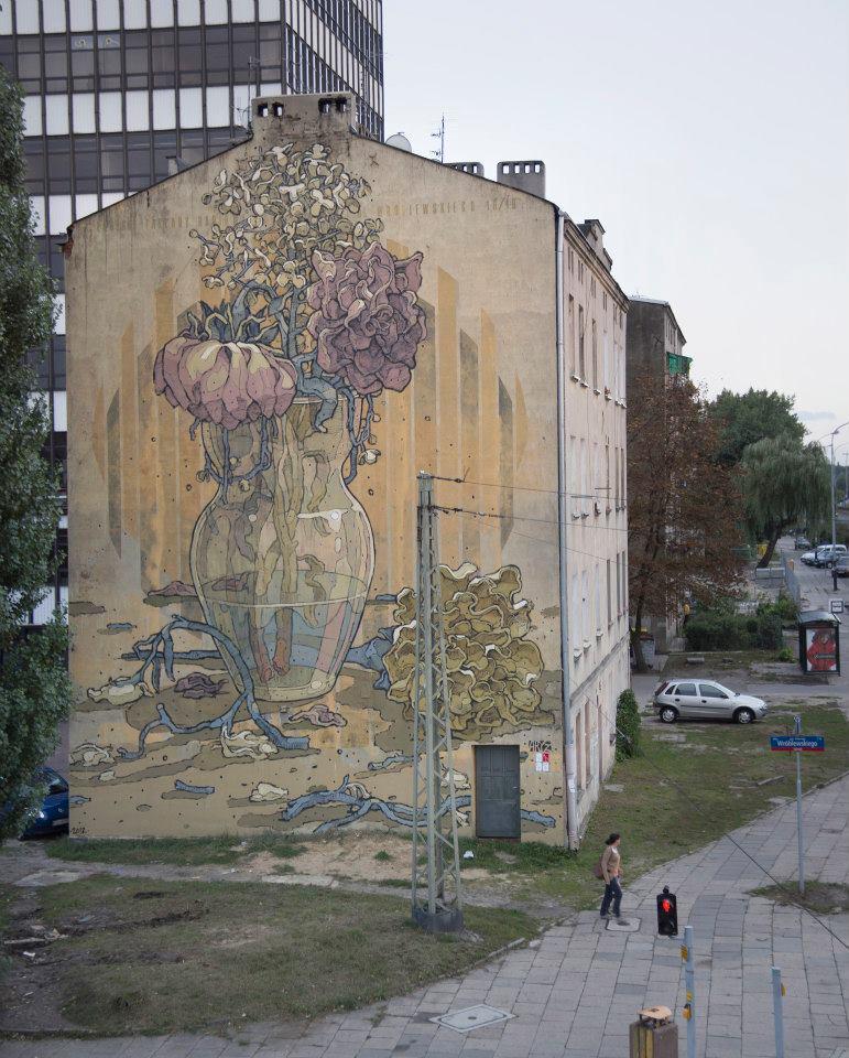 Aryz New Mural In Lodz Poland Streetartnews Streetartnews
