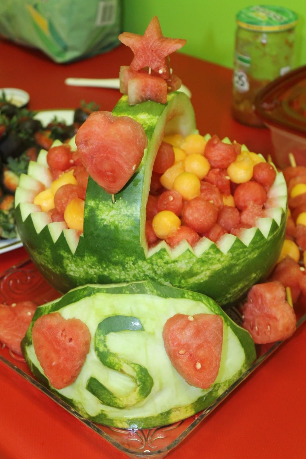 Vineelasiva how to carve watermelon fruit basket