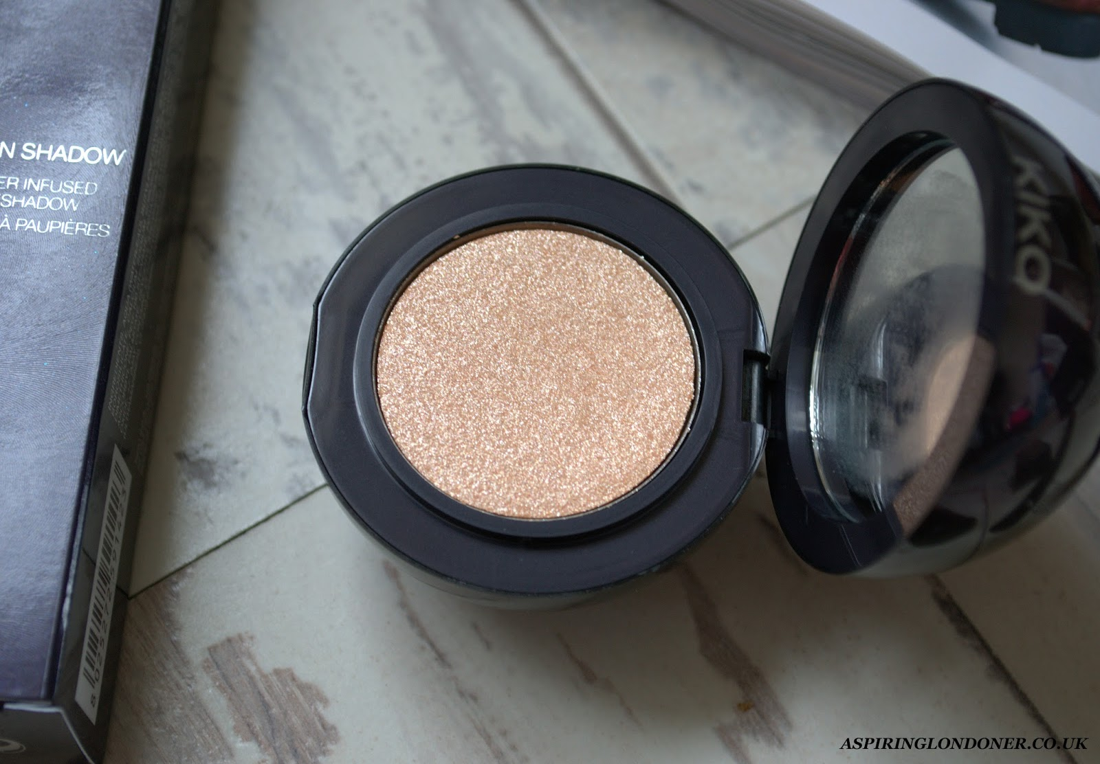 Kiko Midnight Siren Cream Radiance Highlighter Twilight Gold Review Swatch - Aspiring Londoner