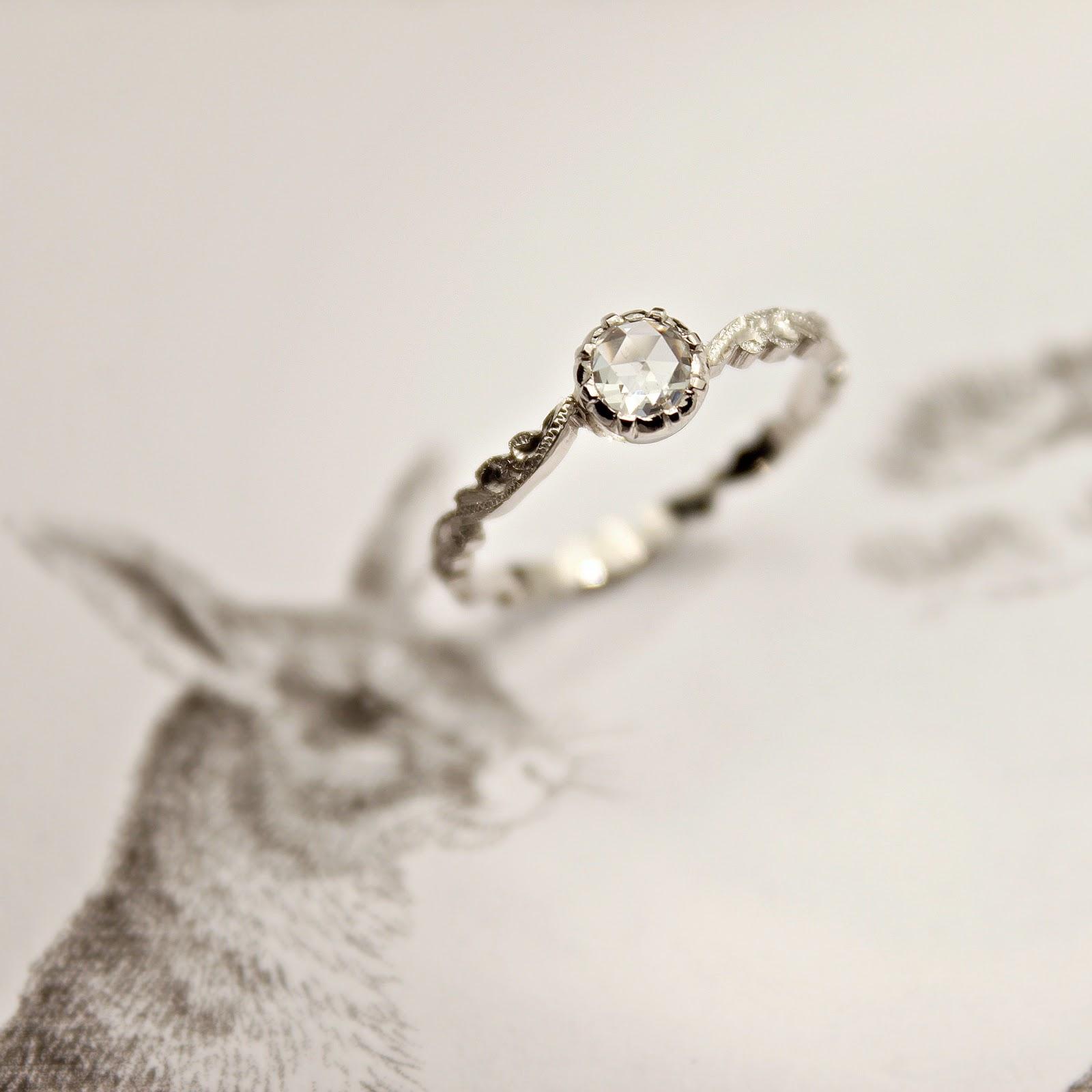 j u n k a h o l i q u e new 4mm rose cut diamond ring