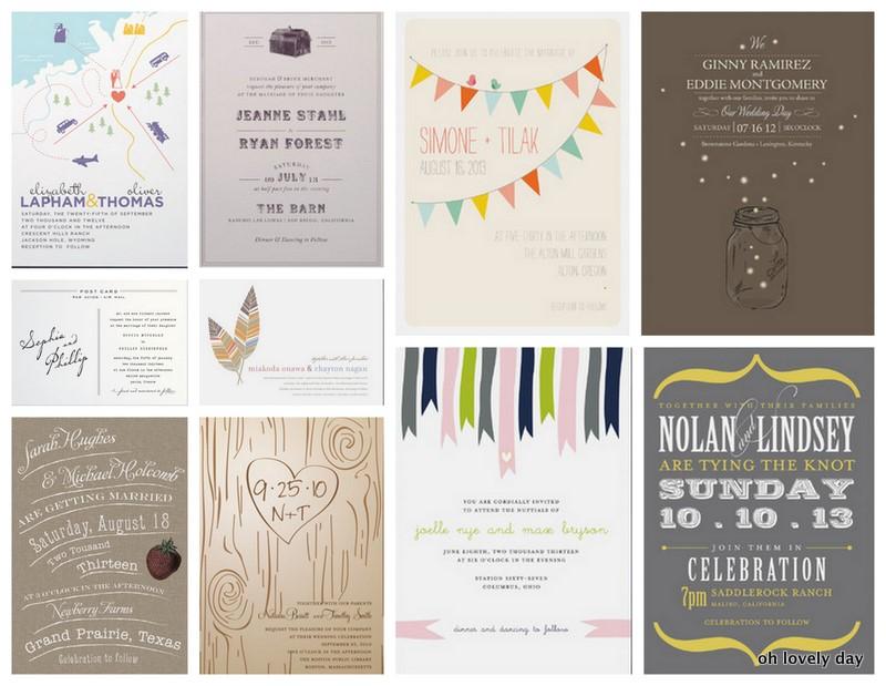 diy rustice wedding invitations
