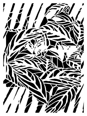 "9"" x 12"" stencil IT'S A JUNGLE OUT THERE"