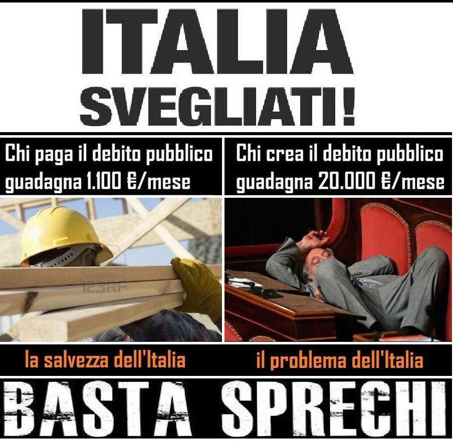 Panta rei spazio libero di gaspare serra for I parlamentari italiani