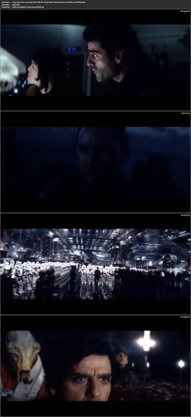 Star Wars The Last Jedi 2017 Dual Audio Hindi HDCAM 720p at freedomcopy.com