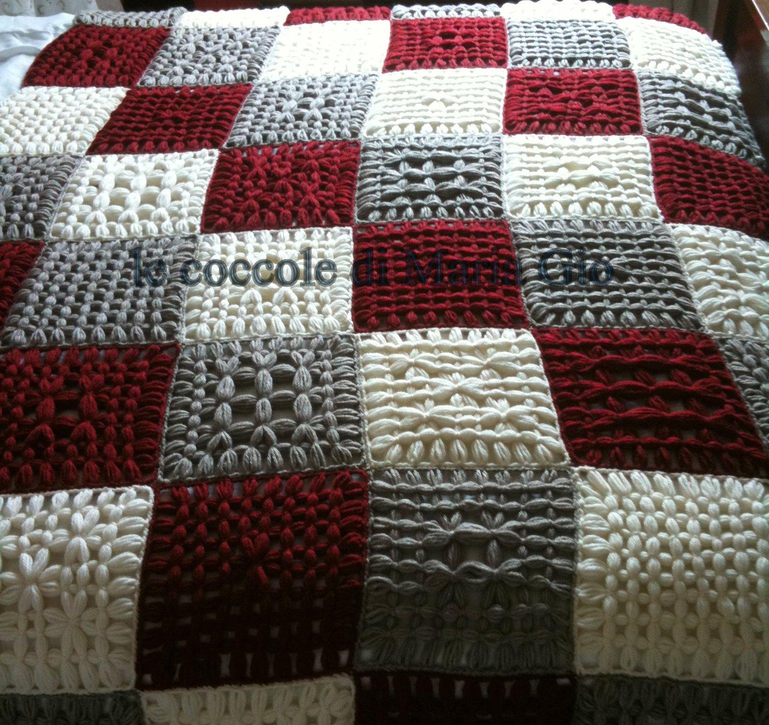 Le coccole di maria gio coperta in lana alpaca a scacchiera - Coperte per letto matrimoniale ...