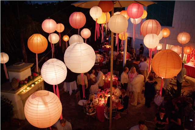 chinese wedding lanterns, wedding reception decor