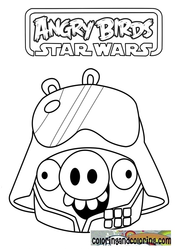Darth Vader in angry birds coloring sheets