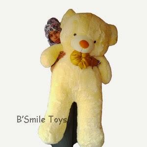 jual boneka teddy bear besar krem