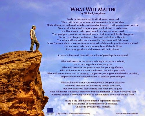 what will matter poem