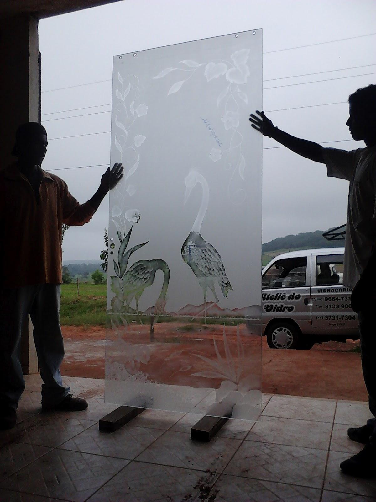 vidros jateados e temperados