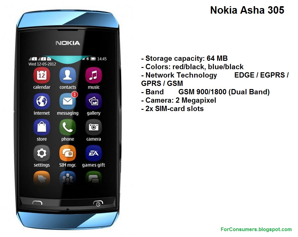Nokia Asha 305 Review Test And Review
