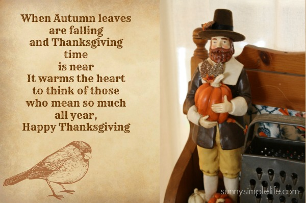 Thanksgiving poem, Thanksgiving quote