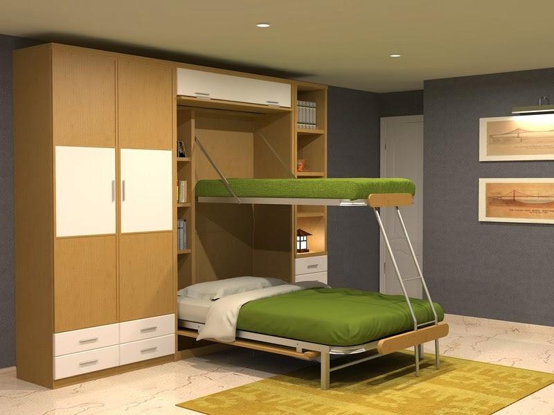 Muebles juveniles dormitorios infantiles y habitaciones juveniles en madrid tres literas - Camas abatibles literas ...