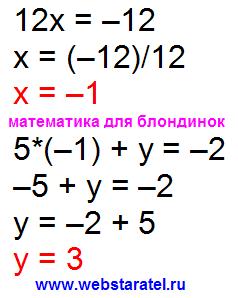 Решение системы уравнений методом сложения. Как найти неизвестное. Как найти икс. Найти значение х. Математика для блондинок.