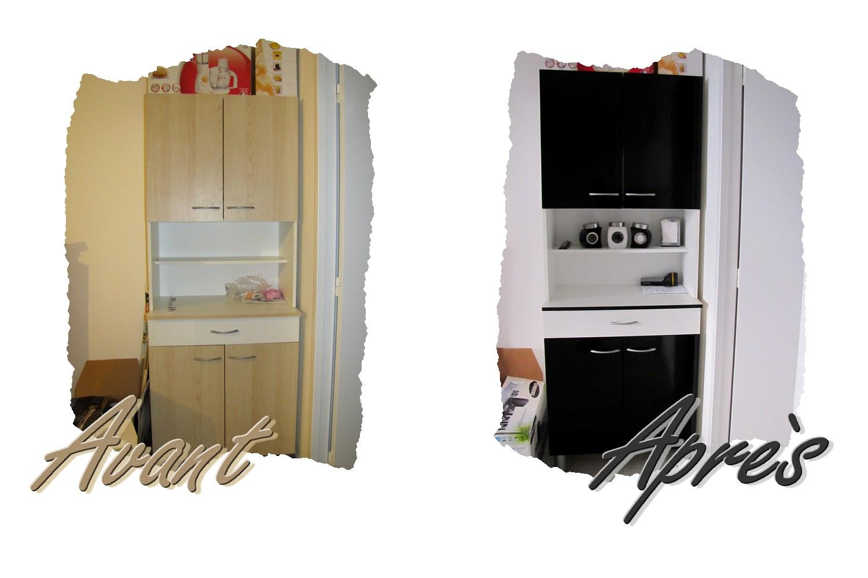 Princesse fait son nid changer la couleur d 39 un meuble - Papier collant pour meuble ...