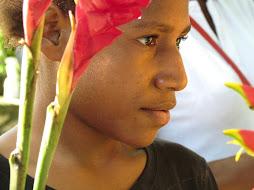 flower seller - papua new guinea