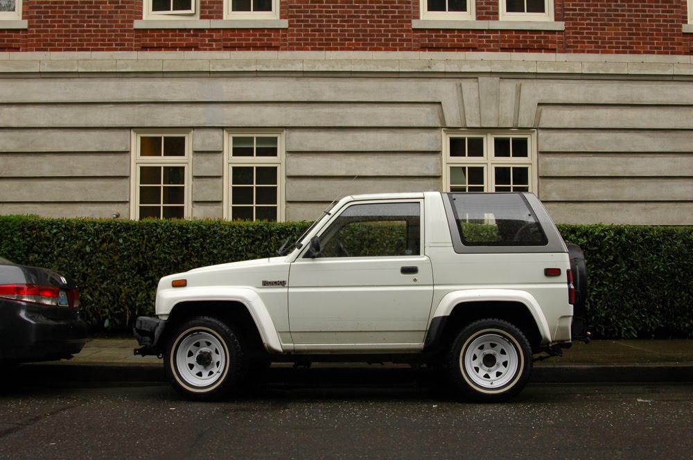 Old Parked Cars.: 1991 Daihatsu Rocky.
