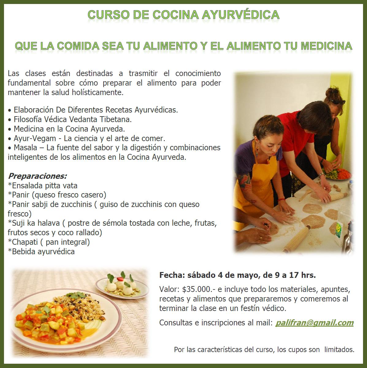 Bless curso de cocina ayurv dica for Curso de cocina para solteros
