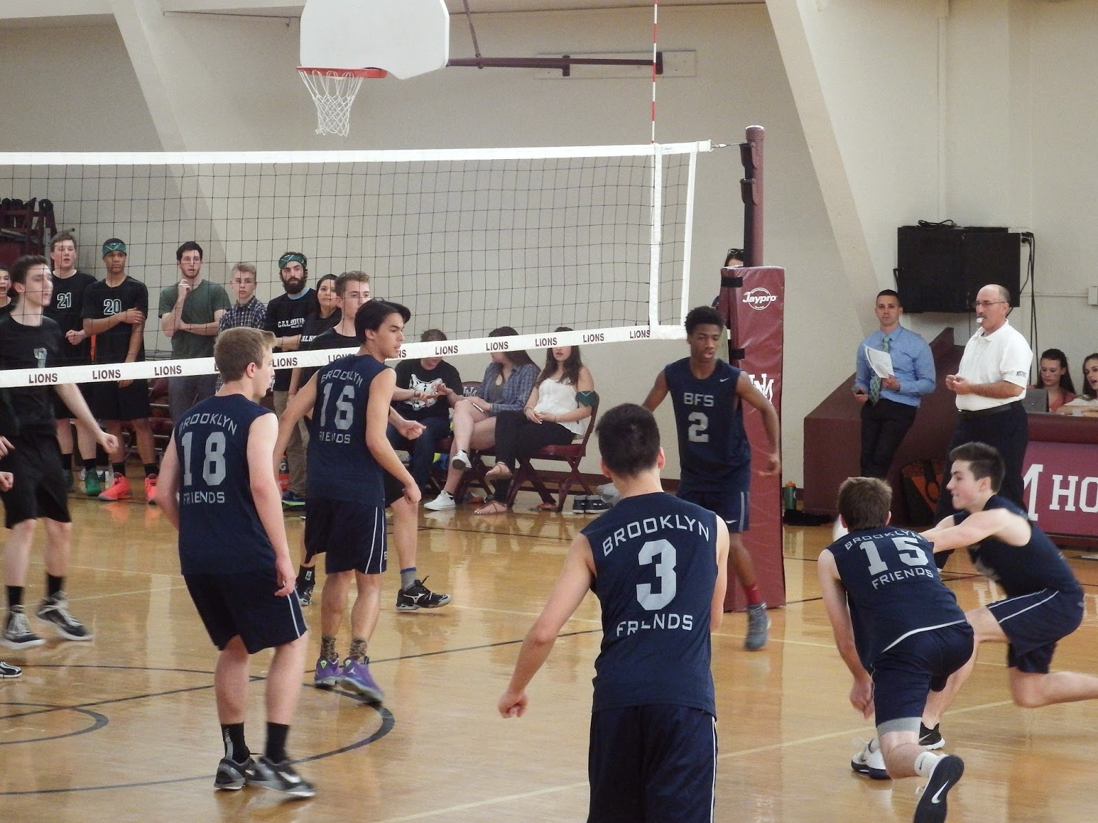 BFS Boys Varsity Volleyball team