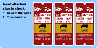 Red and Yellow Meters Have Day and Time Restrictions