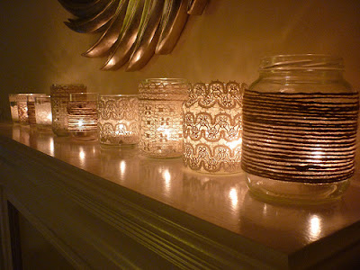 Vintage Jar Votives