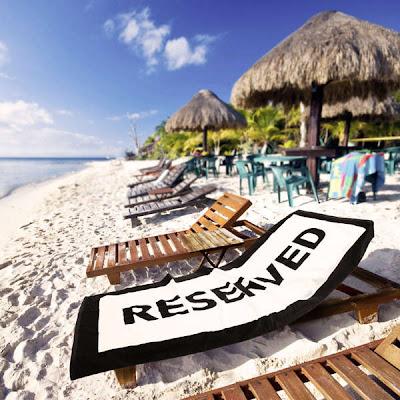 Lugar reservado en la playa