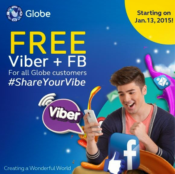 Globe Brings Back FREE Facebook, Now Comes with FREE Viber Too
