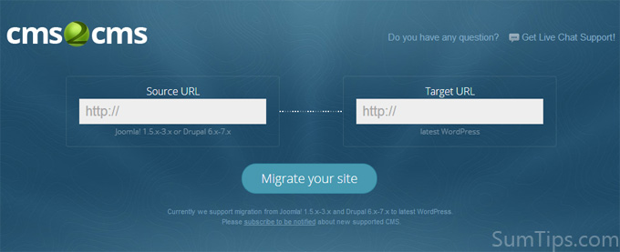 CMS2CMS: Migrate Site from Drupal or Joomla to WordPress