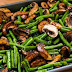 Roasted Green Beans With Mushrooms, Balsamic, And Parmesan Recipe