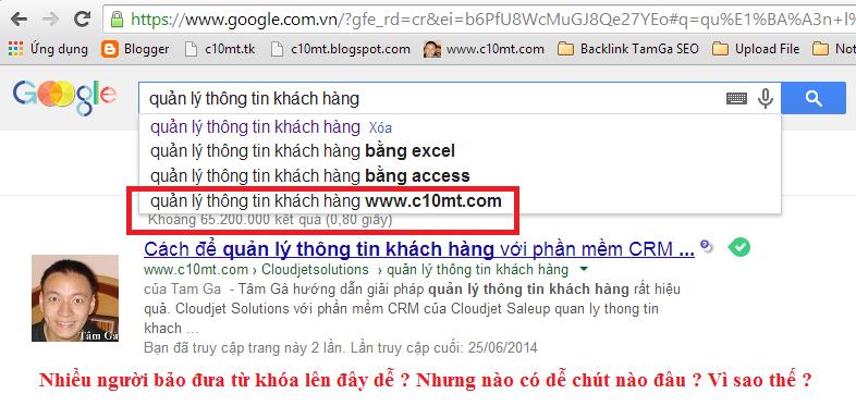 Hướng dẫn đưa từ khóa lên Google Search Box