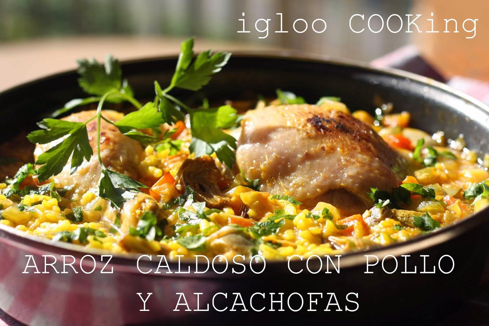 Igloo cooking arroz caldoso con pollo y alcachofas - Arroz caldoso con costillas y alcachofas ...
