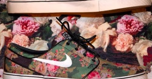 Flower Print Nike Running Shoes