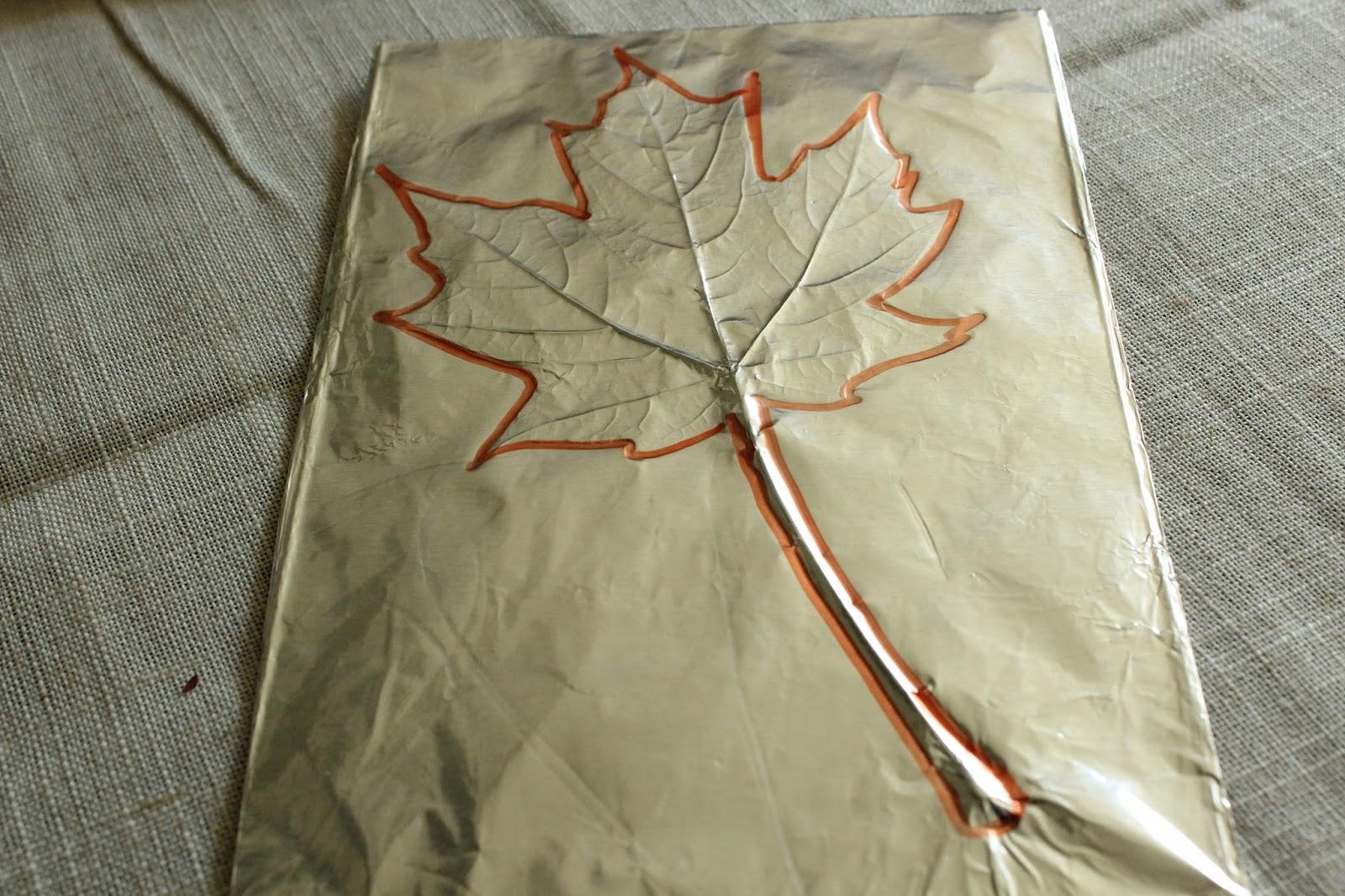 the blue barn foil leaf prints