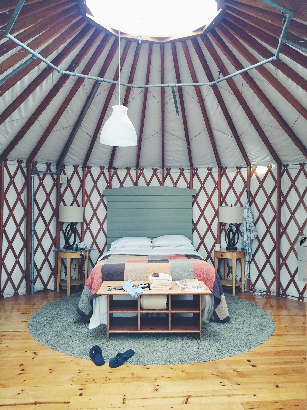 Yurt at Treebones, Where to stay in big Sur, What is a yurt