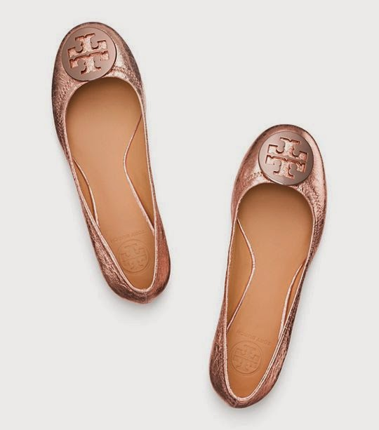 tory burch reva ballet flat metallic on sale