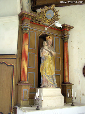 CLEREY-LA-COTE (88) - L'église paroissiale Saint-Matthieu - Vierge à l'Enfant