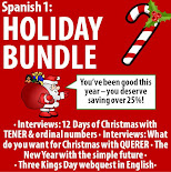 Spanish 1 - Holiday BUNDLE!