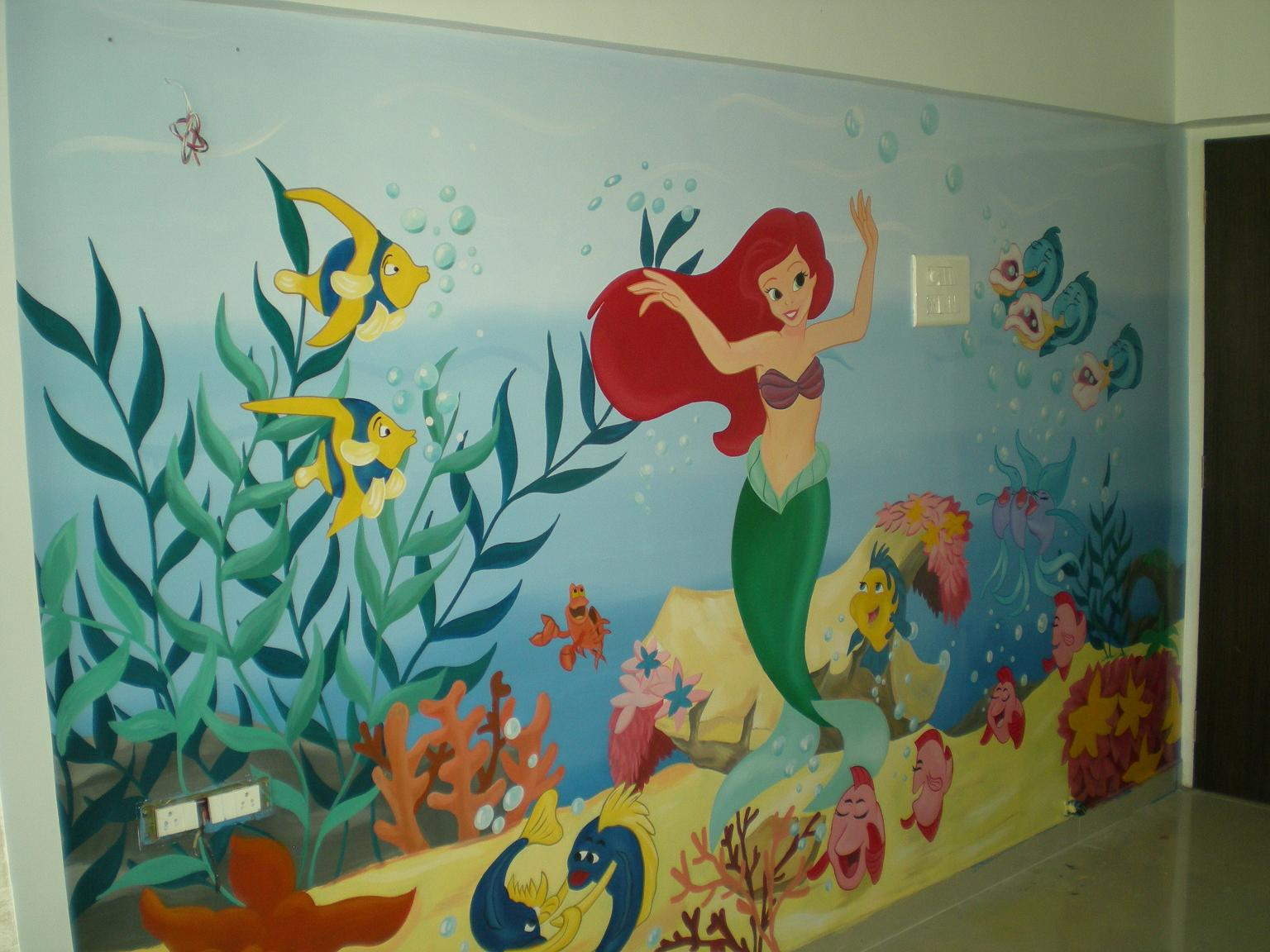 Classroom Mural Ideas ~ Play school classroom wall painting thana ghatkoper mulund