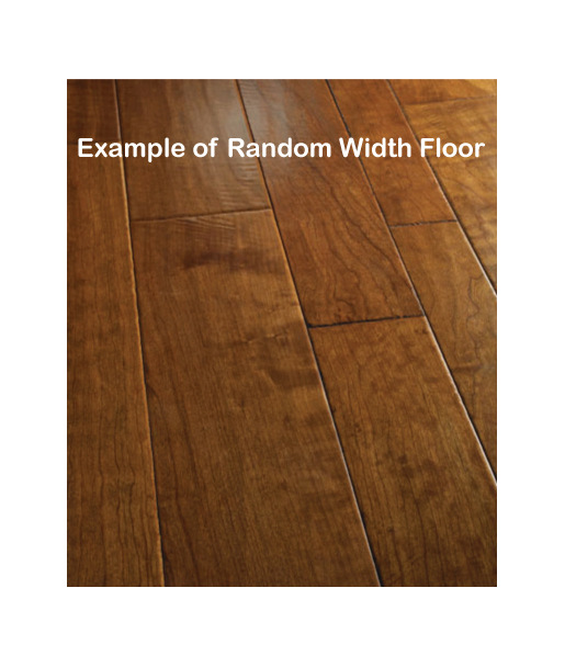 random width hardwood flooring