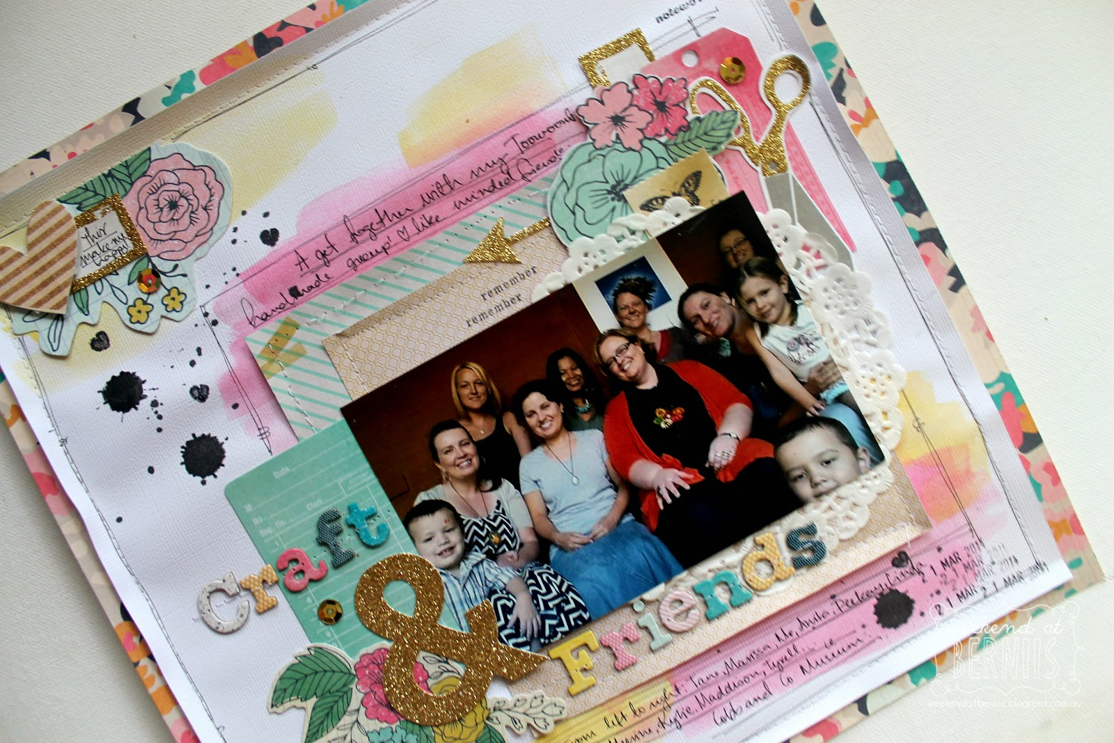 Craft and Friends layout by Bernii Miller using Craft Market collection by Crate Paper.